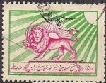 Sellos del Mundo : Asia : Irán : leon y espada