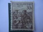 Sellos de Europa - Checoslovaquia -  Día del Ejercito - Den Cs. Arády 1955.