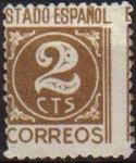 Sellos de Europa - España -  ESPAÑA 1938 815 Sello Cifras Usado 2c