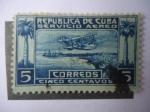 Sellos de America - Cuba -  Servicio Aéreo.
