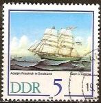 Sellos de Europa - Alemania -  500 años Empresa-Schiffer Stralsund-Velero Adolph Friedrich,1863 (DDR).