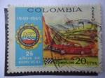 Sellos de America - Colombia -  25 Años de Servicio, Automovil Club De Colombia 1940-1965