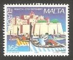 Sellos de Europa - Malta -  1015 - Europa, Fiesta Nacional, regatas el 8 de Setiembre