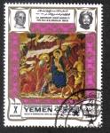 Sellos de Asia - Yemen -  Huida a Egipto, por Duccio da Buoninsegnar