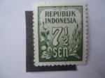 Sellos de Asia - Indonesia -  Cifras 7, 1/2 sen-Republik Indonesia.