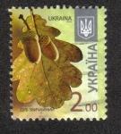 Sellos del Mundo : Europa : Ucrania : English Oak - Quercus robur