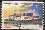 Sellos de Europa - Suecia -  edifecio