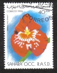 Sellos de Africa - Marruecos -  Flor