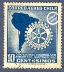 Sellos del Mundo : America : Chile : Conferencia regional Sud Americana del Rotary Internacional