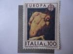 Sellos de Europa - Italia -  Eureopa C.E.P.T. - La Flagelación de Cristo-Oleo de Caravaggio (1571-1610)