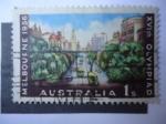 Sellos de Europa - Austria -  XVth Olympiad Melbourne 1956.