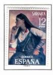 Sellos de Europa - España -  Sahara Tipos Indigenas (1)