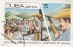 Sellos del Mundo : America : Cuba :  XXV Aniv.congreso campesino en armas