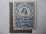 Sellos de Europa - Austria -  Cifras. 4Kr Corona Austro Húngara. Postage Due.