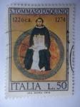 Sellos de Europa - Italia -  Santo Tomás D´Aquino