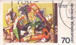 Sellos del Mundo : Europa : Alemania :  pintura de Max Beckman
