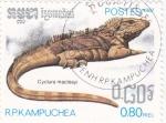 Sellos de Asia - Camboya -  Iguana