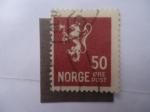 Sellos de Europa - Noruega -  León Heráldico -(S/201))