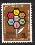 Sellos del Mundo : America : ONU : Europa y la ONU Emblema, New York