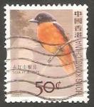 Sellos de Asia - Hong Kong -  1303 - pájaro miniver de vientre rojo