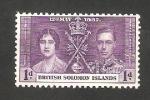 Sellos del Mundo : Oceania : Islas_Salomón : 55 - Coronación de George VI