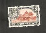 Sellos del Mundo : Oceania : Islas_Salomón : 61 - Casa indígena