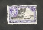 Sellos del Mundo : Oceania : Islas_Salomón : 63 - Paisaje