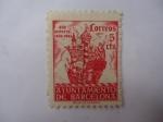 Sellos de Europa - España -  Ed:49 - 450 Universarios 1493-1943 - Ayuntamiento de Barcelona.