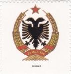 Sellos de Europa - Albania -  escudo-ALBANIA   -sin valor postal