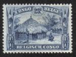 Sellos del Mundo : Africa : República_Democrática_del_Congo : Chozas de Uele, Congo Belga