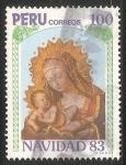 Sellos del Mundo : America : Perú : Virgen con niño Jesus