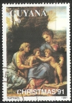 Sellos del Mundo : America : Guyana : La visita de la prima de la Virgen Maria