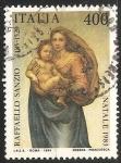 Sellos de Europa - Italia -  La Virgen y el Niño