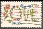 Sellos del Mundo : America : Estados_Unidos : Amor flores