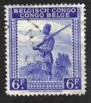 Sellos del Mundo : Africa : República_Democrática_del_Congo : Soldado Indigena, Congo Belga
