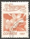 Sellos del Mundo : America : Nicaragua : Plumeria Rubra