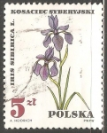Sellos del Mundo : Europa : Polonia : Iris sibirica, planta médica