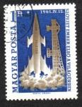 Sellos de Europa - Hungría -  Investigación Espacial ( 1961 )