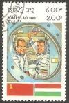 Sellos de Asia - Laos -  Cosmonautas, Koubassov y Farkas