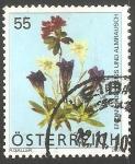 Sellos de Europa - Austria -  Rosa Alpina, edelweiss y azul genciana