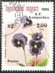 Sellos de Asia - Camboya -  Viola Tricolor Ullswater (Viola tricolor)