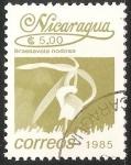 Sellos del Mundo : America : Nicaragua : Brassavola nodosa-orquídea dama de noche