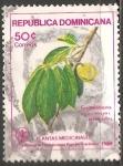 Sellos del Mundo : America : Rep_Dominicana : Plantas medicinales -guanabana