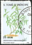 Sellos del Mundo : Africa : Santo_Tomé_y_Principe : Chenopodium ambrosioides Linn