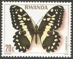 Sellos de Africa - Rwanda -  Papilio demodocus