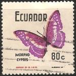 Sellos del Mundo : America : Ecuador : Cypris Morpho