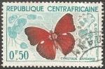 Sellos del Mundo : Africa : Rep_Centroafricana : cymothoe sangaris