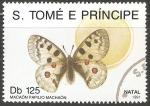Sellos del Mundo : Africa : Santo_Tomé_y_Principe : Papilio machaon- Navidad 1991