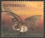 Sellos del Mundo : Europa : Austria : myotis brandtii-murciélago