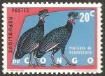 Sellos del Mundo : Africa : República_del_Congo : pintades de schouteden-Pájaros africanos
